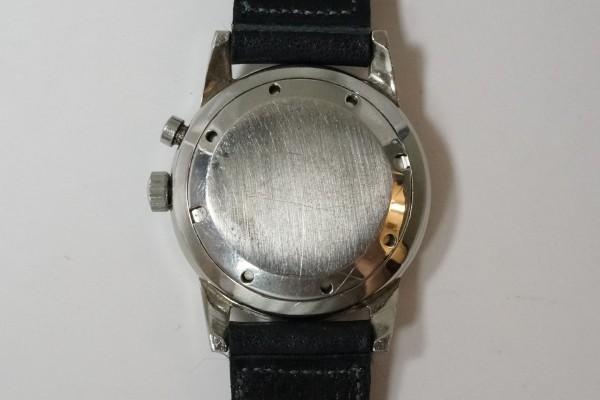 VULCAIN CRICKET ALARM BLACK GILT SECTOR DIAL STEEL(OT-01/1940s)の詳細写真15枚目
