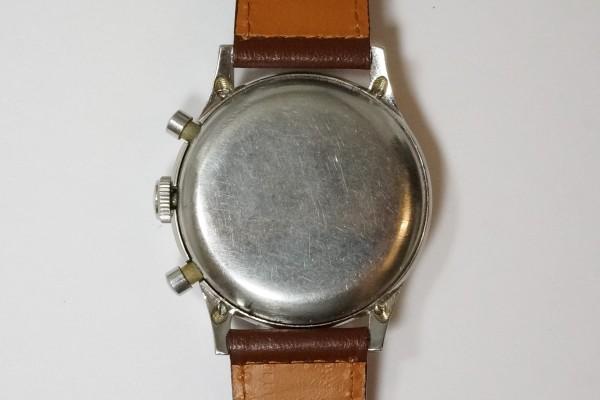 BERNA Cramshell クロノグラフ Black Gilt Snail Dial  Oversized 38mm(CH-01/1940s)の詳細写真14枚目