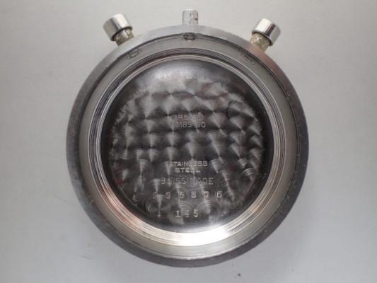 BERNA Cramshell クロノグラフ Black Gilt Snail Dial  Oversized 38mm(CH-01/1940s)の詳細写真16枚目