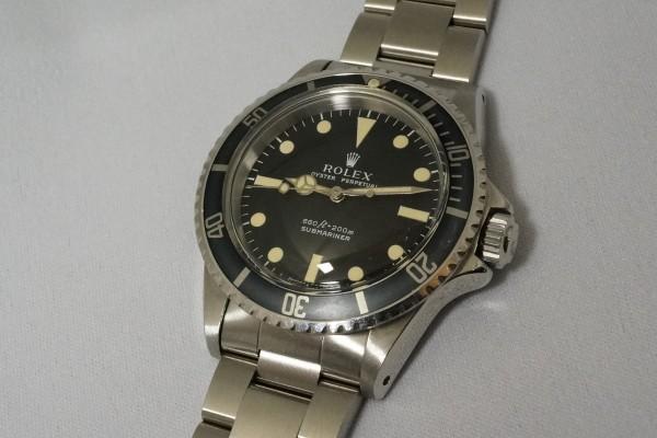 ロレックス サブマリーナ Ref-5513 Feetfirst Dial(RO-01/1972年)の詳細写真2枚目