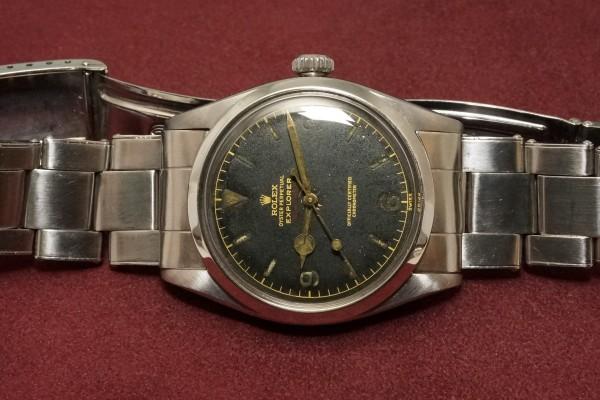 ロレックス EXPLORER Ref-6610 Red depth Dial(RS-73/1956年)の詳細写真6枚目