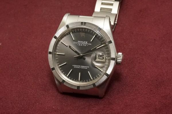 ロレックス OYSTER PERPETUAL DATE Ref-1501 Gray Dial(RO-66/1972年)の詳細写真3枚目
