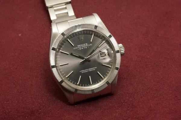 ロレックス OYSTER PERPETUAL DATE Ref-1501 Gray Dial(RO-66/1972年)の詳細写真4枚目
