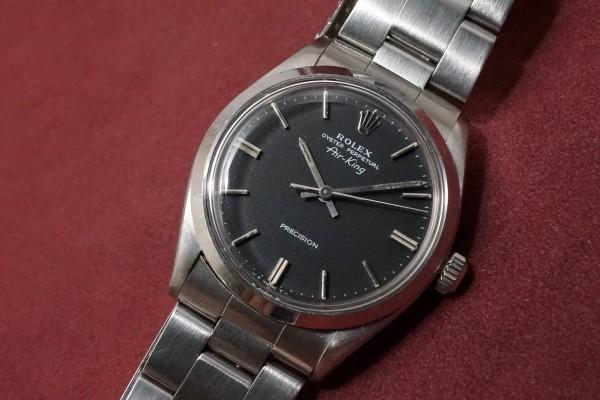 ロレックス Ref-5500 Air-King Black Dial Garantie(RO-68/1978年)の詳細写真5枚目