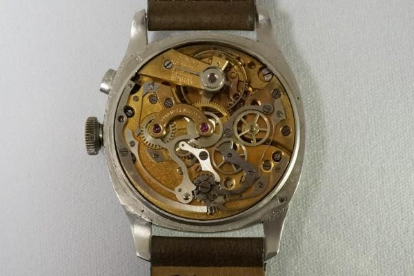 VULCAIN CHRONOMETRE Big Cushion Case Breguet Numerals クロノグラフ(CH-01/1930s)の詳細写真11枚目