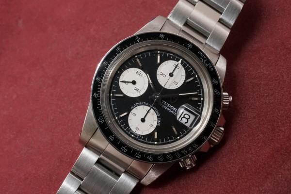 チュードル CHRONOTIME Ref-94200 BigBlock BlackDial Garantie&Box(TS-09/1988年)の詳細写真5枚目
