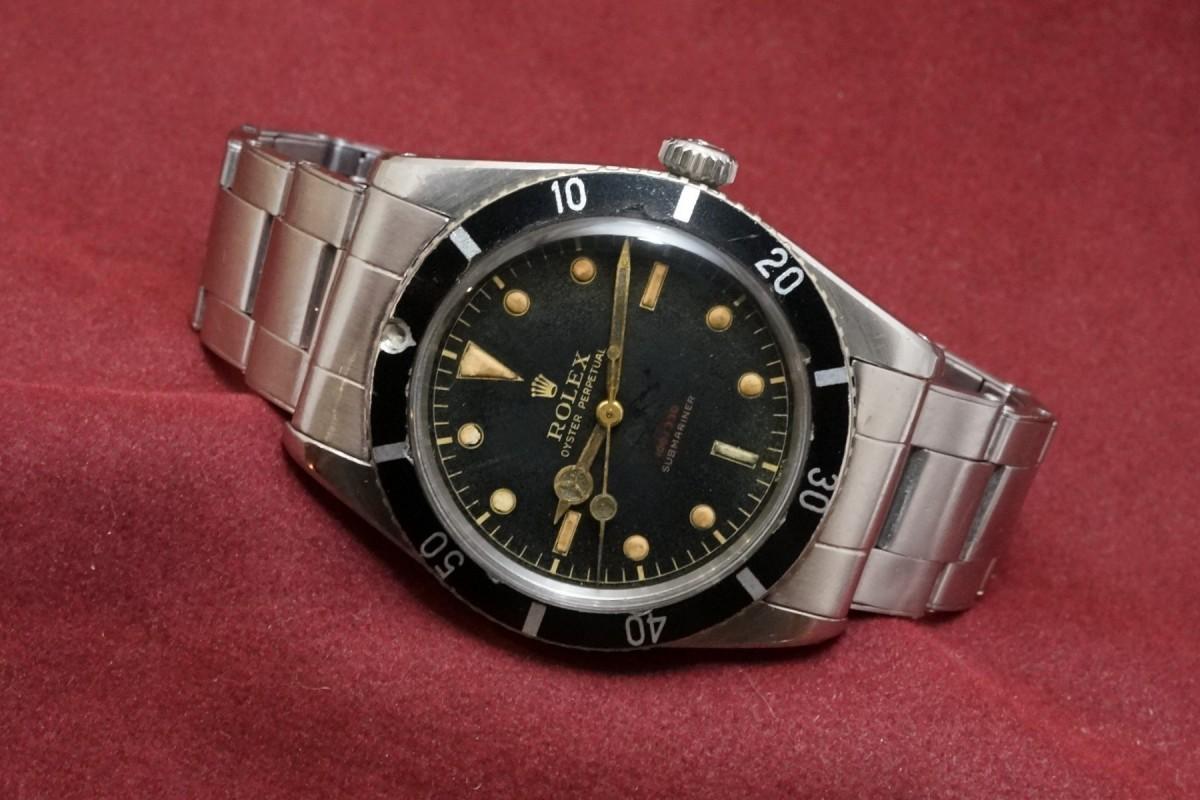 ロレックス サブマリーナ Ref-6536/1 Red depth Dial(RS-10/1956年)