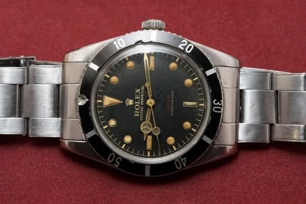 ロレックス サブマリーナ Ref-6536/1 Red depth Dial(RS-10/1956年)の詳細写真4枚目