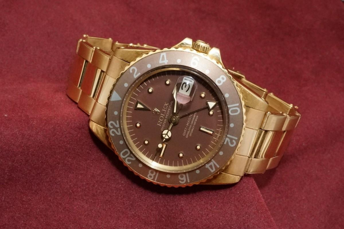 ロレックス GMTマスター Ref-1675/8 Brown Nipple Dial(RS-15/1975年)