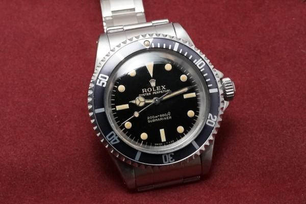 ロレックス サブマリーナ Ref-5513 Gilt/Gloss Dial Near-Mint!(RS-22/1966年)の詳細写真4枚目
