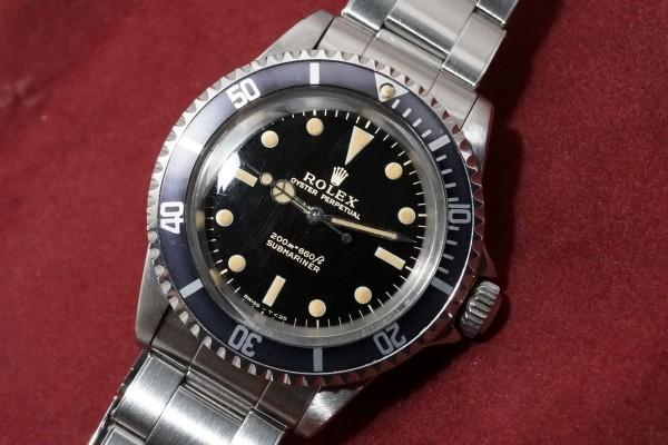 ロレックス サブマリーナ Ref-5513 Gilt/Gloss Dial Near-Mint!(RS-22/1966年)の詳細写真5枚目