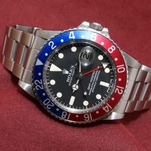 ロレックス GMTマスター Ref-1675 Matte Dial Guarantee Mint-condition!