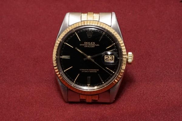 ロレックス DATEJAST Ref-1601/3 SS×YG Gilt/Glossy Dial(RO-41/1967年)の詳細写真2枚目