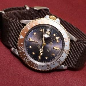 ロレックス GMTマスター Ref-1675/3 Purple Change Nipple Dial