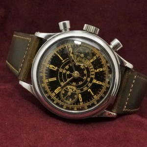 Anonymous クロノグラフ Black Gilt Dial Val.71