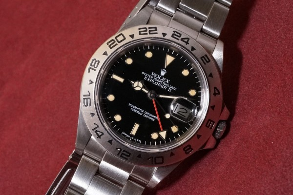 ロレックス EXPLORERⅡ Ref-16550 Spider Center Split Dial(RS-36/1986年)の詳細写真3枚目