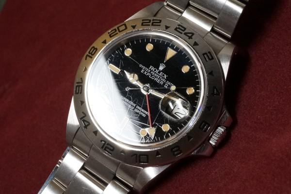 ロレックス EXPLORERⅡ Ref-16550 Spider Center Split Dial(RS-36/1986年)の詳細写真5枚目