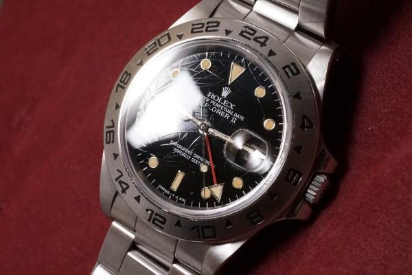 ロレックス EXPLORERⅡ Ref-16550 Spider Center Split Dial(RS-36/1986年)の詳細写真6枚目