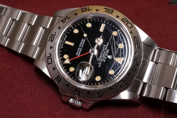 ロレックス EXPLORERⅡ Ref-16550 Spider Center Split Dial(RS-36/1986年)の詳細写真8枚目
