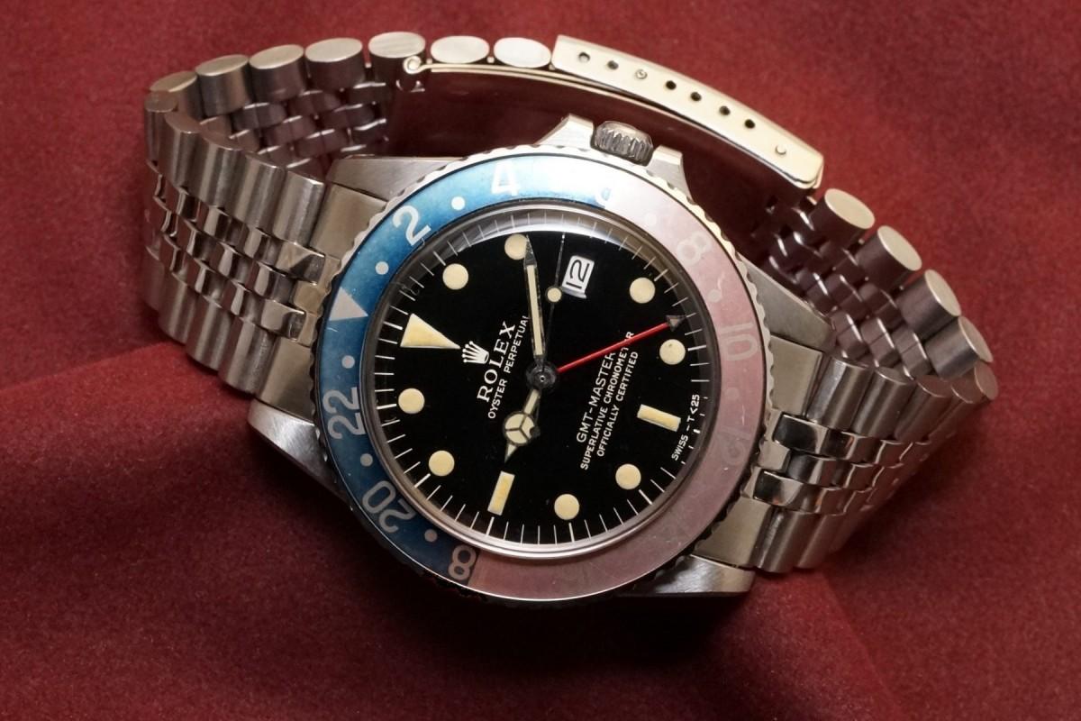 ロレックス GMTマスター Ref-1675 Gilt/Gloss Dial(RS-94/1966年)