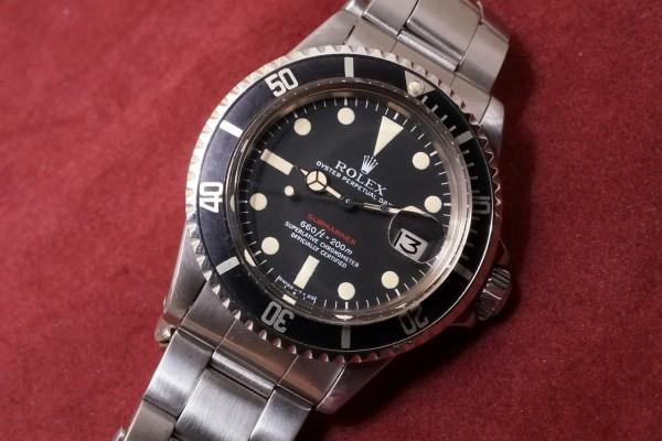 ロレックス 赤サブマリーナ Ref-1680 Mark-5(RS-26/1971年)の詳細写真3枚目